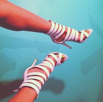 shoes high heels heels strappy heels