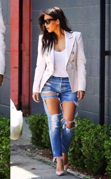 Jeans Jacket Sunglasses High Heels Heels Top Summer Outfits