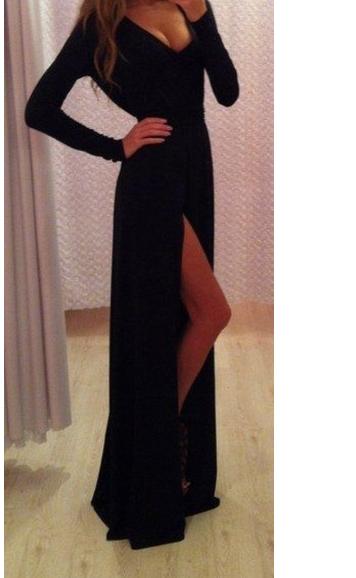 Fashion long v sexy dress hot