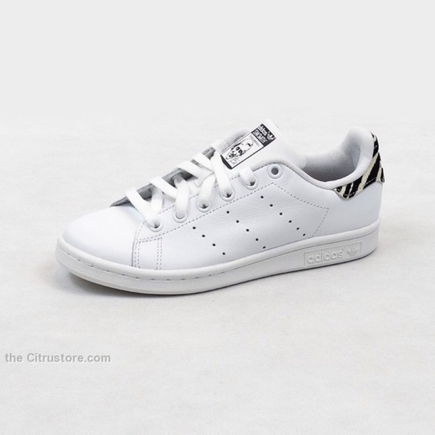 shoes adidas stan smith whe bla zebra