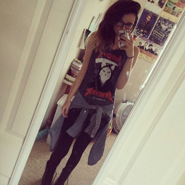tank top acacia brinley leggings combat boots shirt