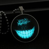 jewels,necklace,goth,black,shining,light up,cool,black fashion,mouth,alice in wonderland