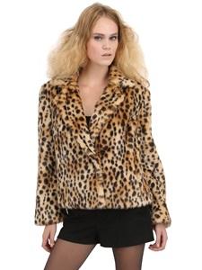 Ary faux leopard fur jacket
