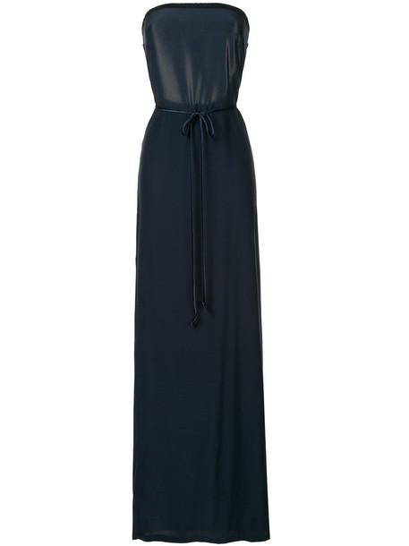 Kacey Devlin dress maxi dress maxi women black silk