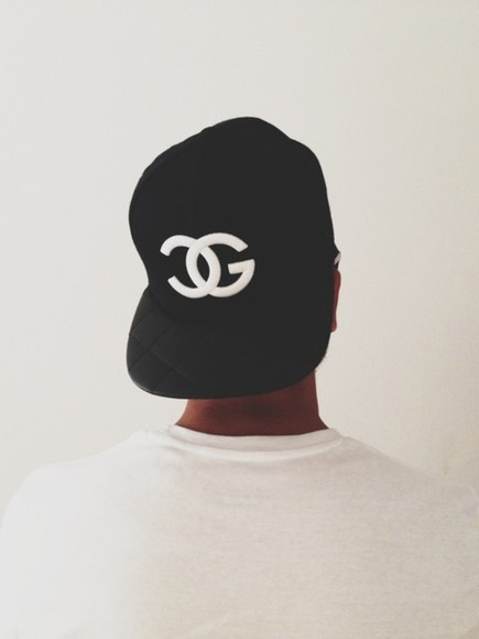 chanel black snapback hat fake chanel fullcap hot white cap