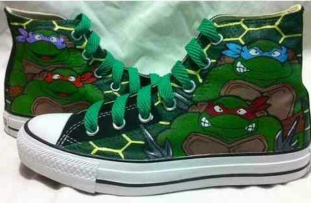 shoes tmnt chuck taylor all stars leo raph mickey mouse donnie
