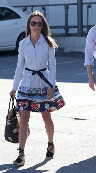 dress wedges pippa middleton shirt dress