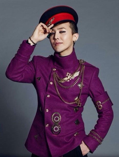 jacket purple gdragon gdragon big bang kpop korean fashion