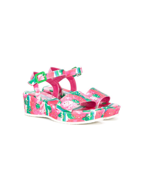 Mi Mi Sol sandals platform sandals purple pink satin shoes