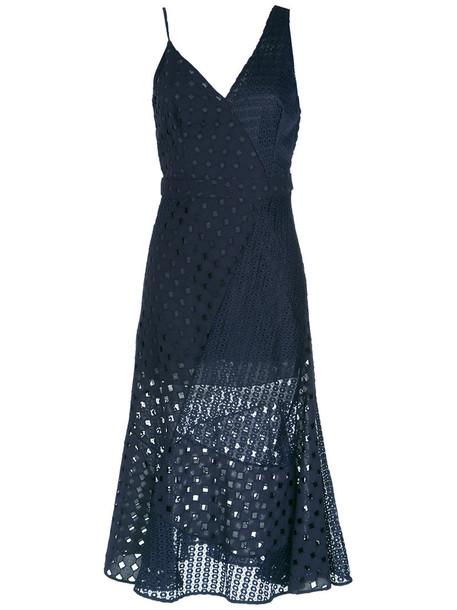 Giuliana Romanno dress midi dress women midi lace cotton