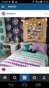 home accessory,bedroom,bedding,chevron