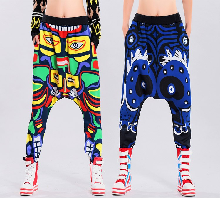 [Magic] tribal totem printing women harem pants high stretch personality loose pants CO01 free shipping-in Pants & Capris from Apparel & Accessories on Aliexpress.com