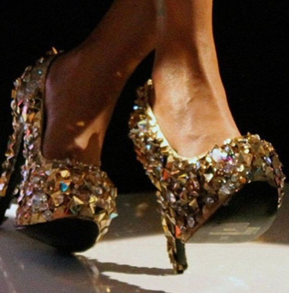 shoes strass paillettes l