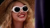 skins,white sunglasses,60s style,retro sunglasses,sunglasses,uk tv,cassie's sunglasses,cassie