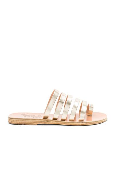 Ancient Greek Sandals metallic gold shoes