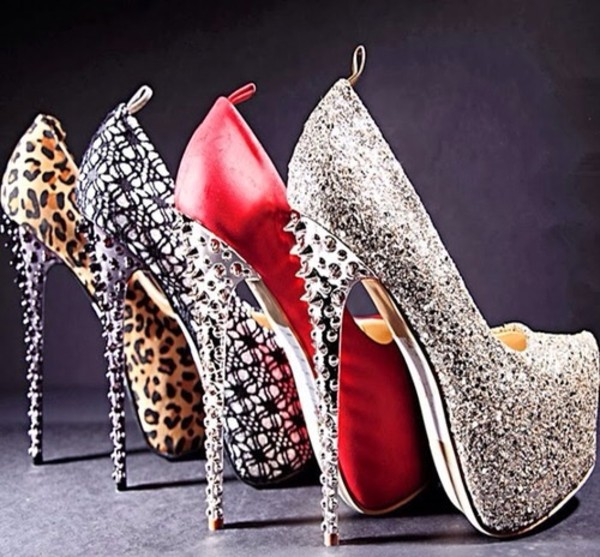shoes studs spiked shoes high heels