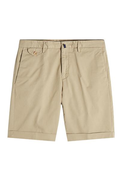 Incotex Royal Batavia Cotton Bermuda Shorts  in beige / beige