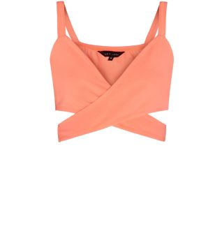 Coral Cross Over Bralet