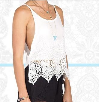 shirt crochet top white top pretty summer sun hippie