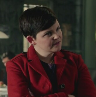 coat snow white once upon a time show ginnifer goodwin red leather mary margaret blanchard