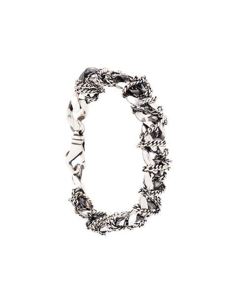 women silver grey metallic jewels