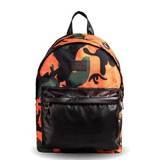 bag backpack rucksack print printed backpack fusion camouflage black