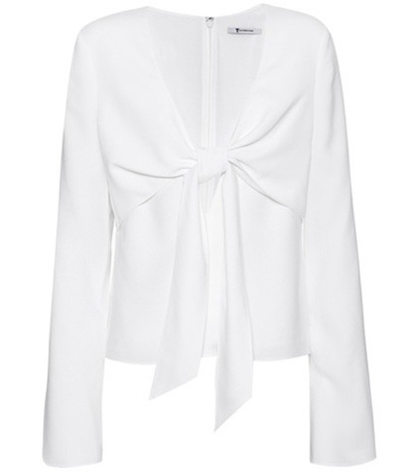 T by Alexander Wang Crêpe top in white
