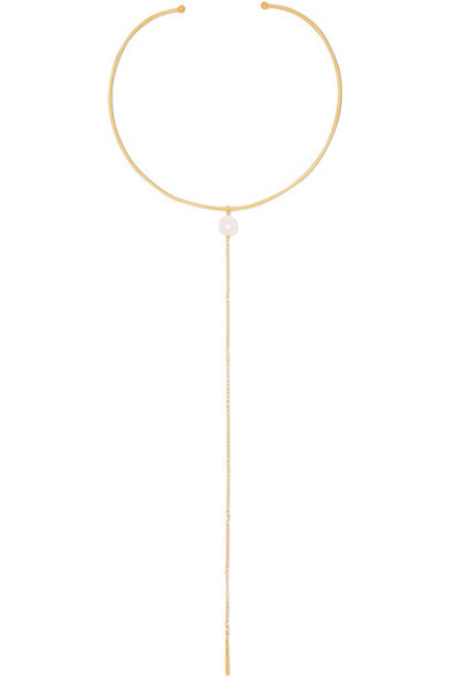 Chan Luu pearl necklace gold jewels