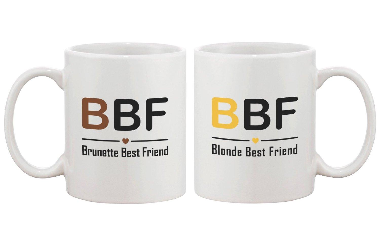 Amazoncom Cute Matching Coffee Mugs For Best Friends