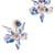 Cloudy Sky Crystal Lily Earrings