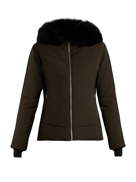 jacket fur green