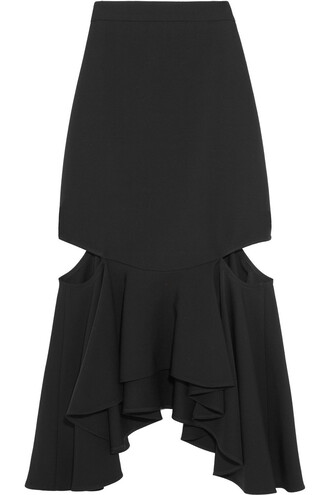 skirt midi skirt midi wool black
