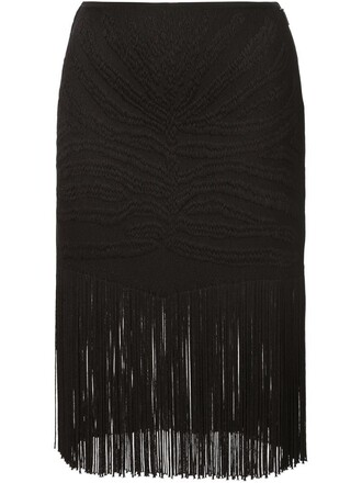 skirt jacquard tiger black