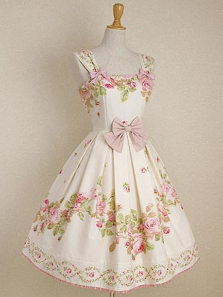 Dress kawaii dress bow tie dress wheretoget for Tenue shabby chic