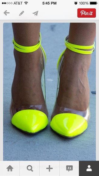 neon shoes pumps