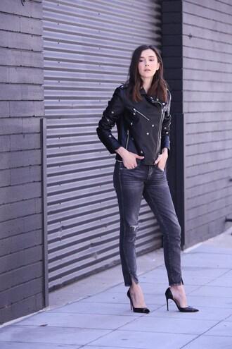 inspades blogger jacket tank top shoes