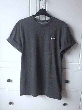 top nike sweater grey t-shirt