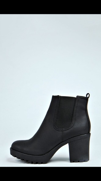 shoes chelsea boots heeled chunky chelsea boots ankle boots black heel boot mid heel boots black booties