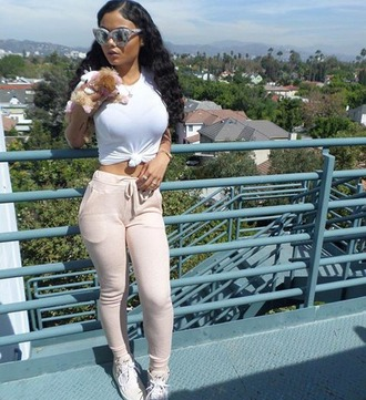 t-shirt india westbrooks and bronx sunny day in cali out & about everyday tings chill outfit by b lauren pants shoes sunglasses jewels shirt while outfit instagram india westbrooks