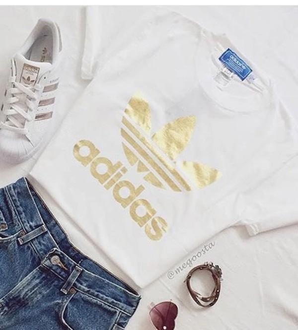 adidas originals rose gold tee
