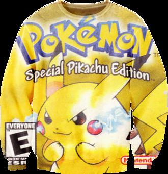 sweater pokemon yellow special pikachu edition