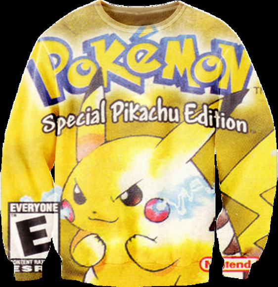sweater pokemon yellow special pikachu edition