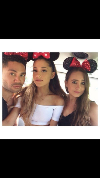 jewels ariana grande mickey mouse  ears selfiewithfriends hair accessory