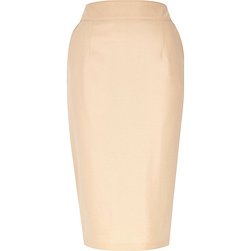 leather-look pencil skirt