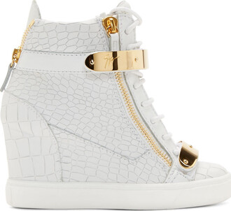sneakers white wedge sneakers shoes