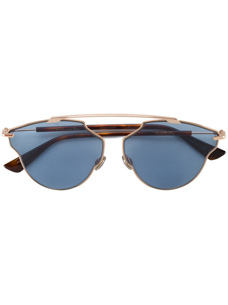 Dior Eyewear - so real pop sunglasses - women - metal - One Size, Yellow/Orange, metal