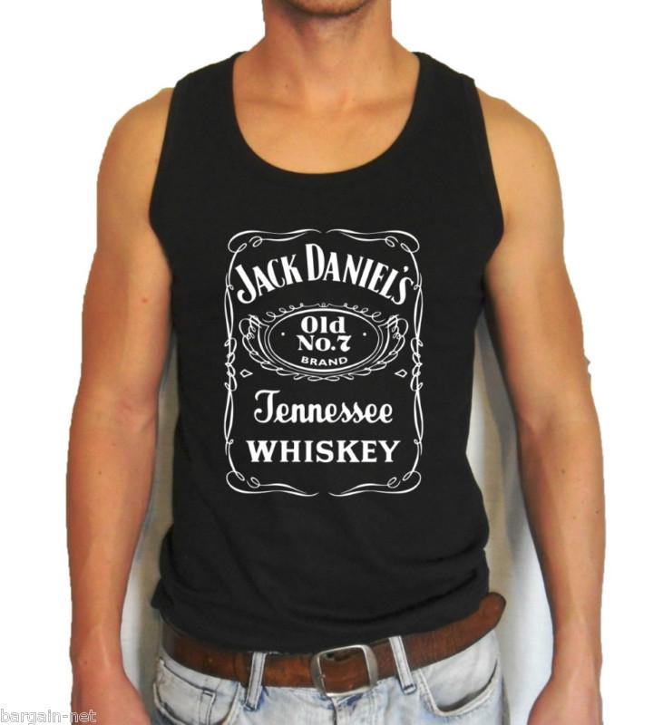 f8eb8884edc47 ... Black Jack Daniel s Logo Men s Tank Top all sz S XXL whiskey Daniels