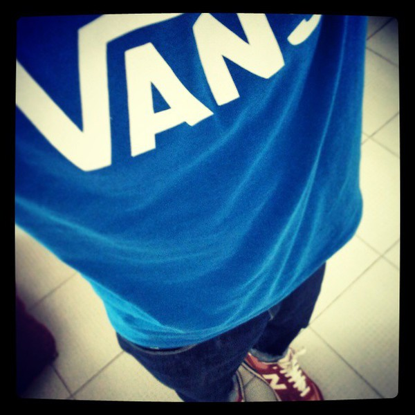 t-shirt vans t-shirt blue top