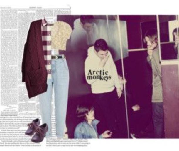 grunge indie hipster flannel cardigan