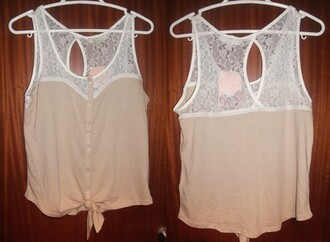 shirt top lace sweetheart neckline button up